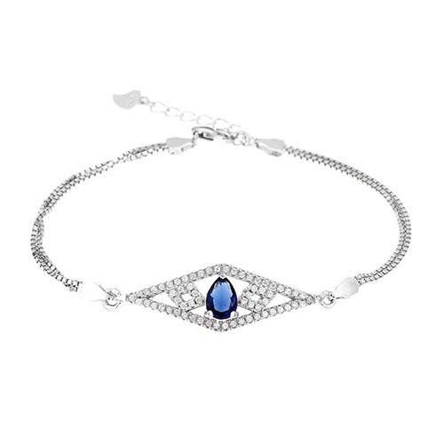 bracelet femme argent zirconium 9500228