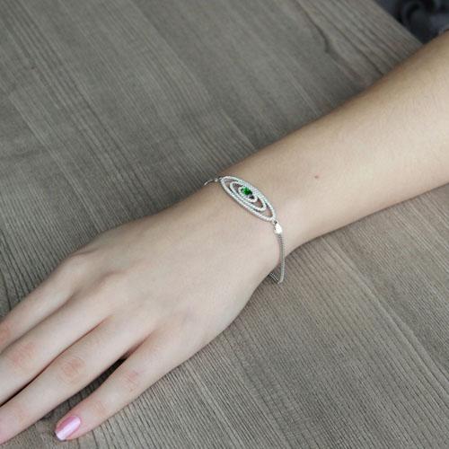 bracelet femme argent zirconium 9500229 pic4