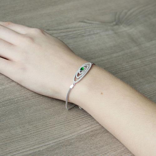 bracelet femme argent zirconium 9500229 pic5