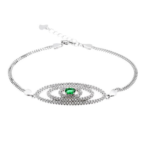 bracelet femme argent zirconium 9500229