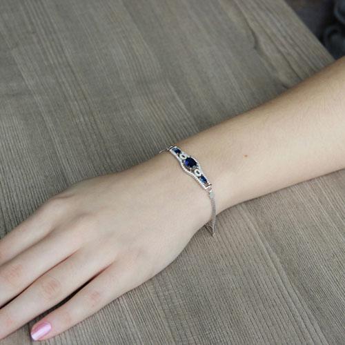 bracelet femme argent zirconium 9500230 pic4