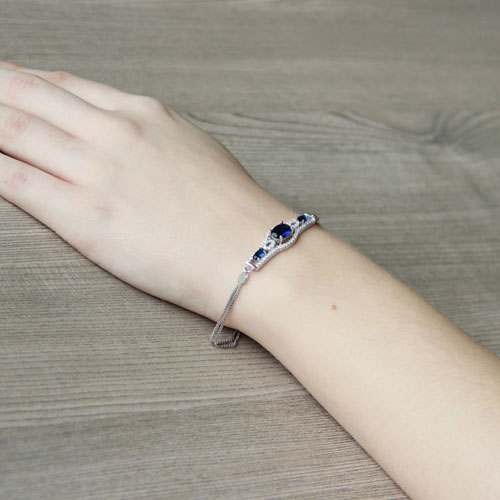 bracelet femme argent zirconium 9500230 pic5