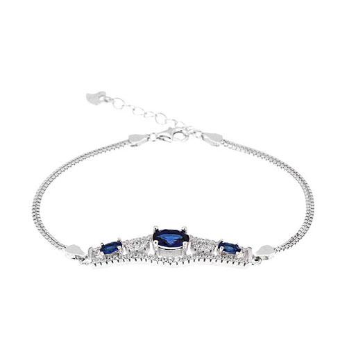 bracelet femme argent zirconium 9500230