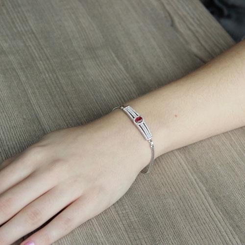 bracelet femme argent zirconium 9500231 pic4