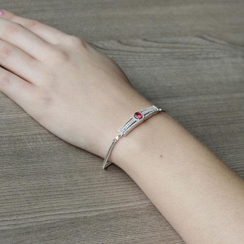 bracelet femme argent zirconium 9500231 pic5
