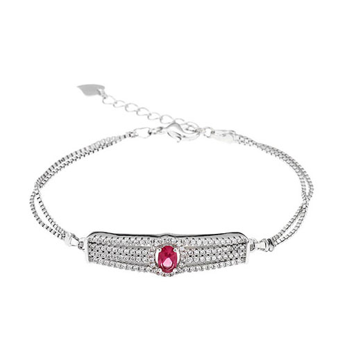bracelet femme argent zirconium 9500231