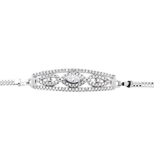 bracelet femme argent zirconium 9500232 pic2