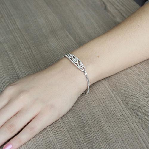 bracelet femme argent zirconium 9500232 pic4
