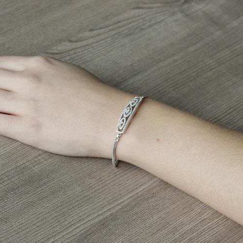 bracelet femme argent zirconium 9500232 pic5