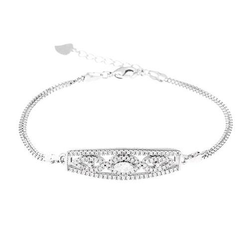 bracelet femme argent zirconium 9500232
