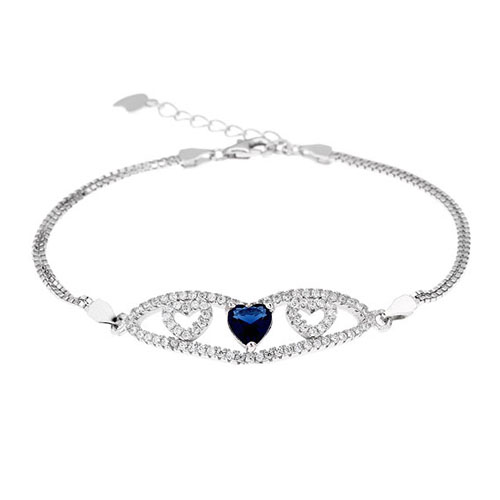 bracelet femme argent zirconium 9500233