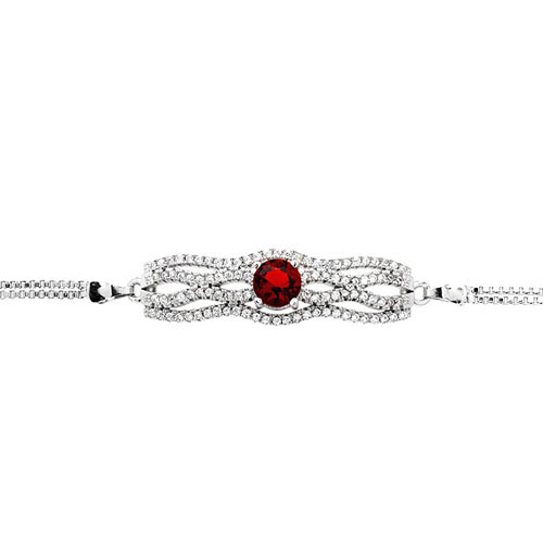 bracelet femme argent zirconium 9500234 pic2