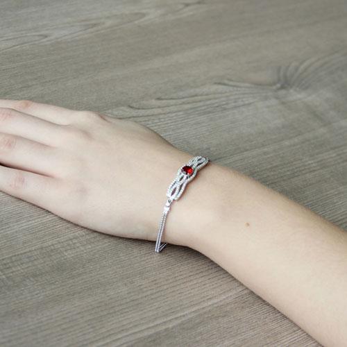 bracelet femme argent zirconium 9500234 pic5