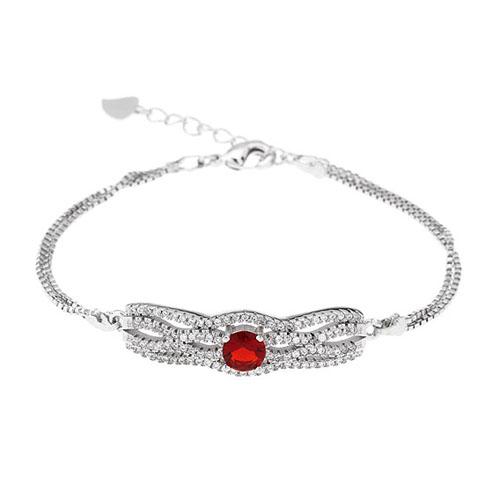 bracelet femme argent zirconium 9500234