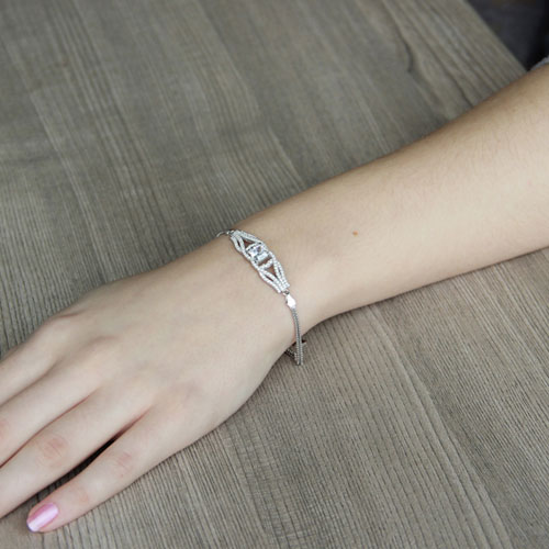 bracelet femme argent zirconium 9500235 pic4
