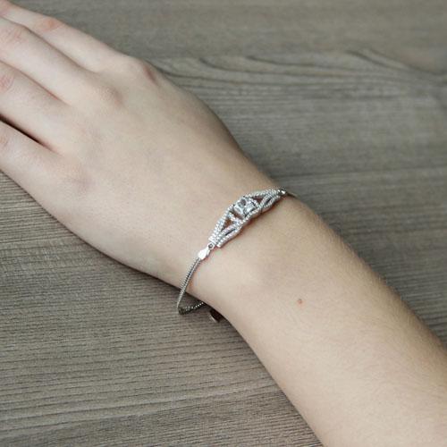 bracelet femme argent zirconium 9500235 pic5