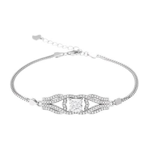 bracelet femme argent zirconium 9500235