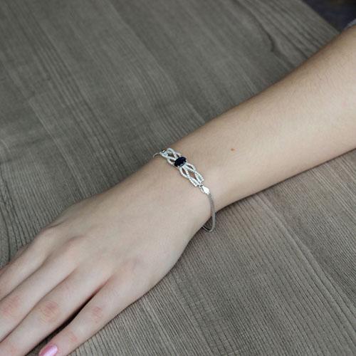 bracelet femme argent zirconium 9500236 pic4