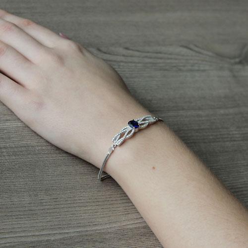 bracelet femme argent zirconium 9500236 pic5