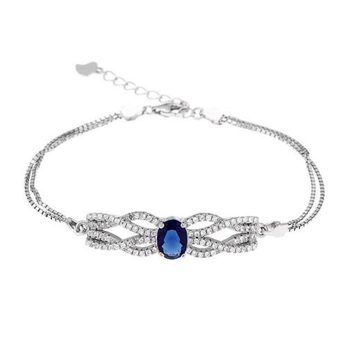 bracelet femme argent zirconium 9500236