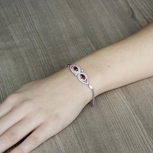 bracelet femme argent zirconium 9500237 pic4