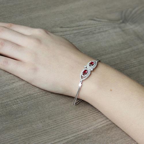bracelet femme argent zirconium 9500237 pic5