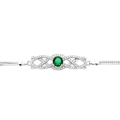 bracelet femme argent zirconium 9500238 pic2