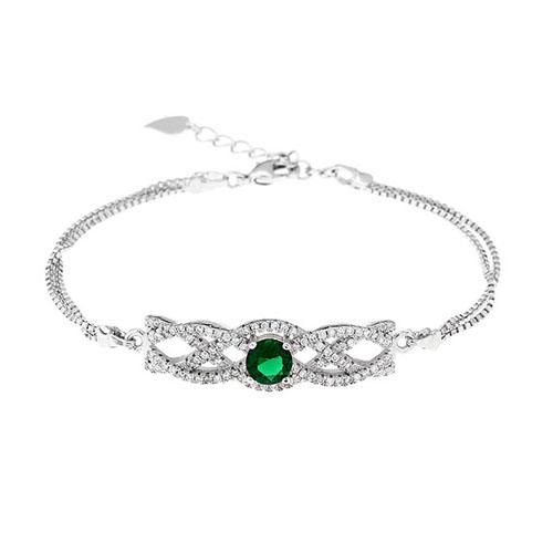 bracelet femme argent zirconium 9500238