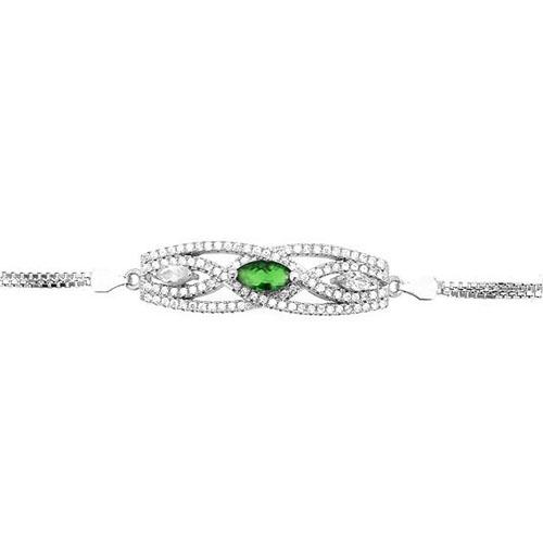 bracelet femme argent zirconium 9500239 pic2
