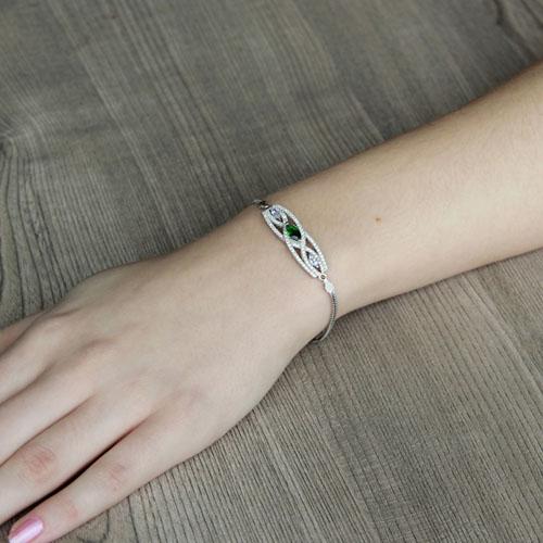 bracelet femme argent zirconium 9500239 pic4