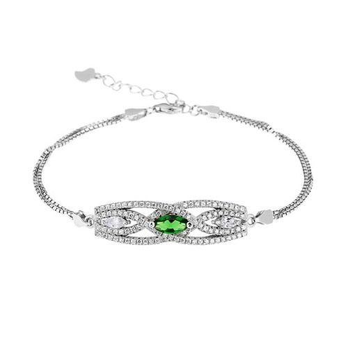 bracelet femme argent zirconium 9500239