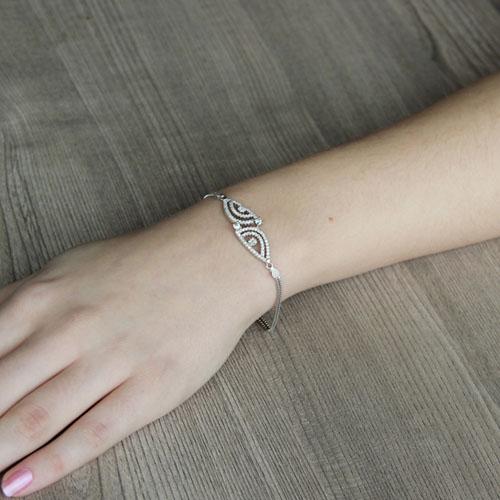 bracelet femme argent zirconium 9500240 pic4