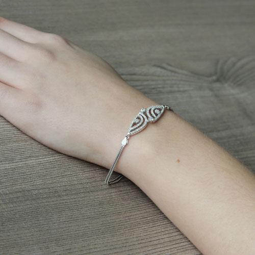 bracelet femme argent zirconium 9500240 pic5