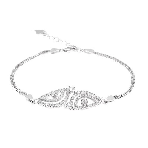 bracelet femme argent zirconium 9500240
