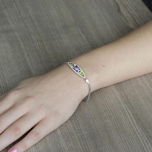 bracelet femme argent zirconium 9500241 pic4
