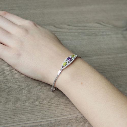 bracelet femme argent zirconium 9500241 pic5