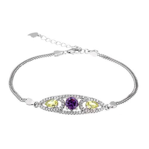 bracelet femme argent zirconium 9500241