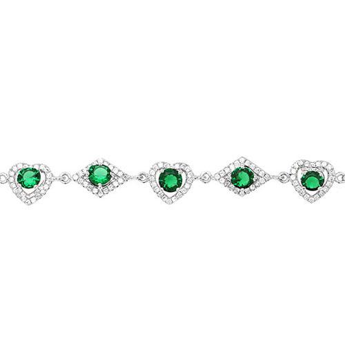 bracelet femme argent zirconium 9500242 pic2