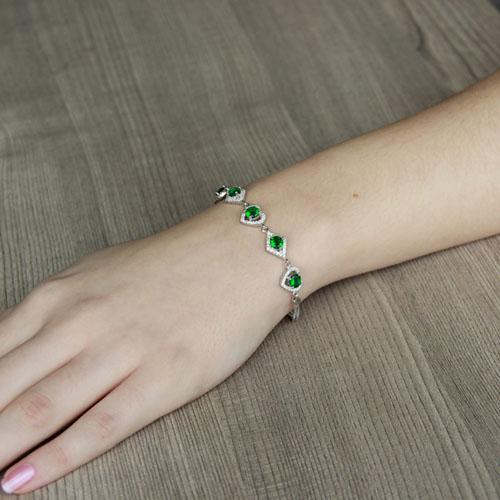 bracelet femme argent zirconium 9500242 pic4