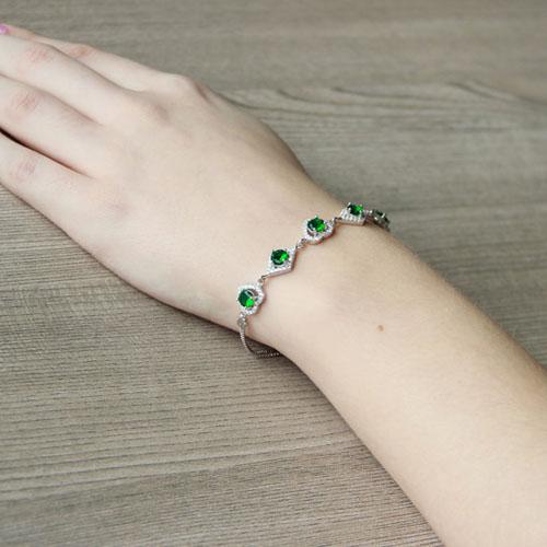 bracelet femme argent zirconium 9500242 pic5
