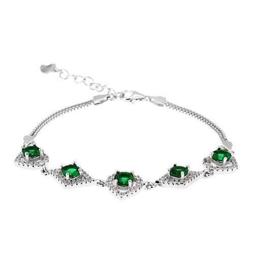 bracelet femme argent zirconium 9500242