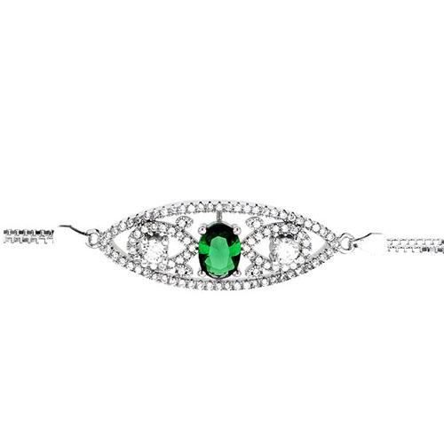 bracelet femme argent zirconium 9500243 pic2