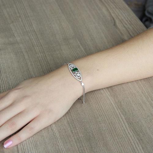 bracelet femme argent zirconium 9500243 pic4