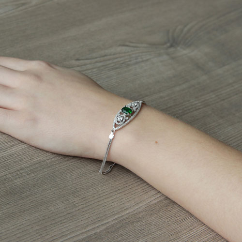 bracelet femme argent zirconium 9500243 pic5