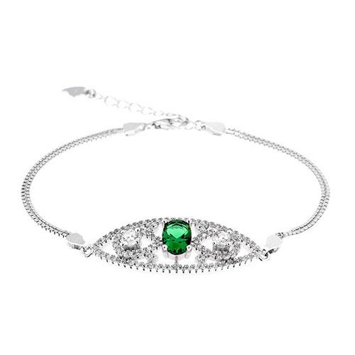 bracelet femme argent zirconium 9500243