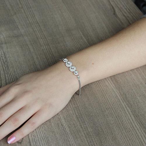 bracelet femme argent zirconium 9500244 pic4