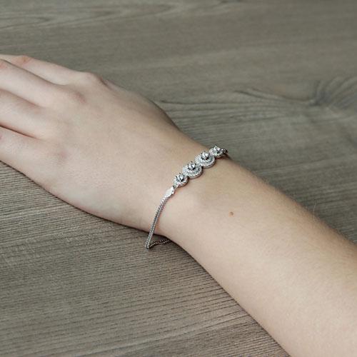 bracelet femme argent zirconium 9500244 pic5