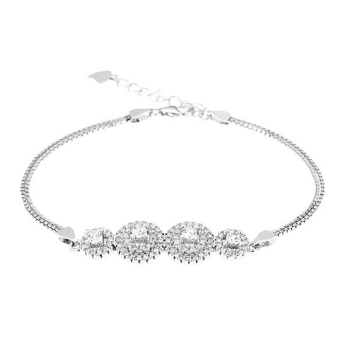 bracelet femme argent zirconium 9500244