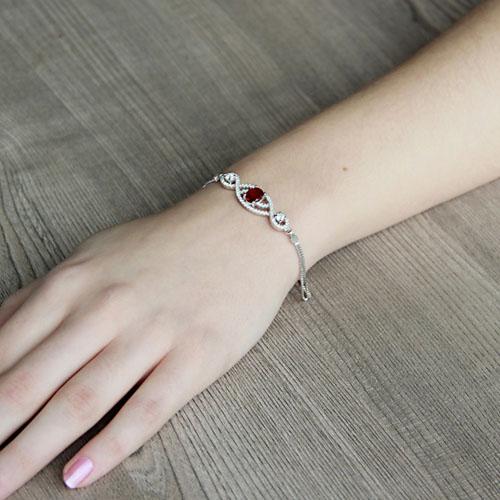 bracelet femme argent zirconium 9500245 pic4