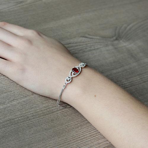 bracelet femme argent zirconium 9500245 pic5